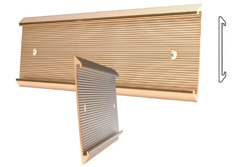 "36"" x 1"" Ribbed Gold Wall Holder"