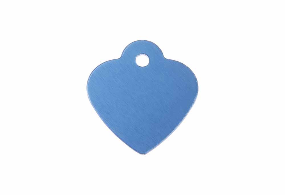 Médaille Cœur avec bélière (petite) Bleue 25x26mm