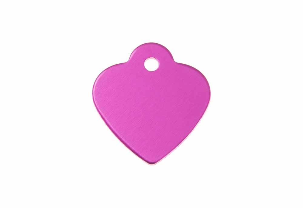 Médaille Cœur avec bélière (petite) Rose 25x26mm