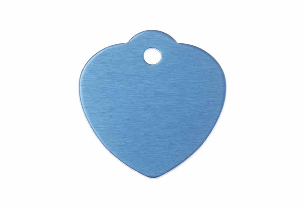 Médaille Cœur avec bélière (grande) Bleu 31x32mm