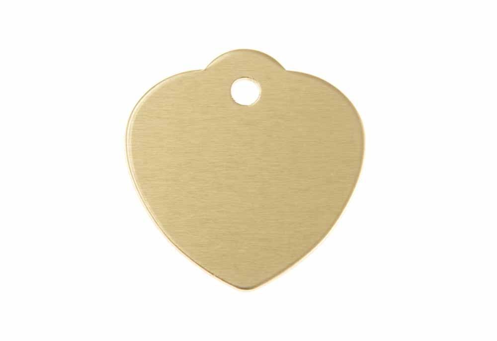 Médaille Cœur avec bélière (grande) Or 31x32mm