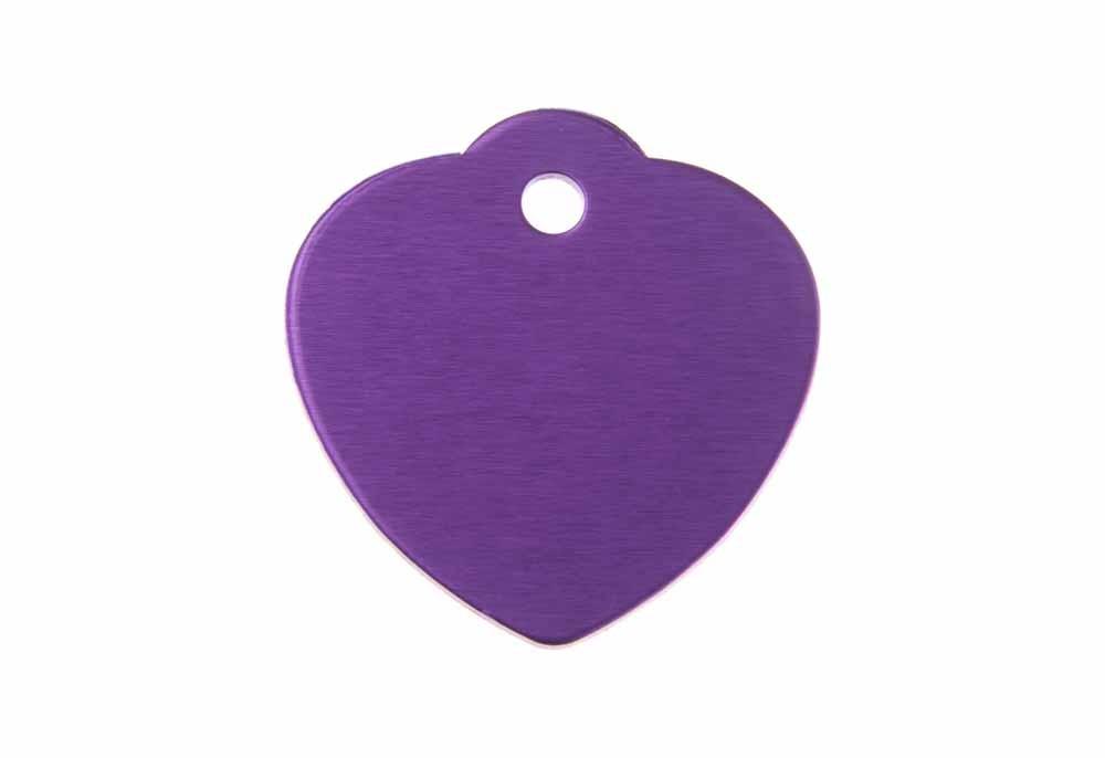 Médaille Cœur avec bélière (grande) Violet 31x32mm