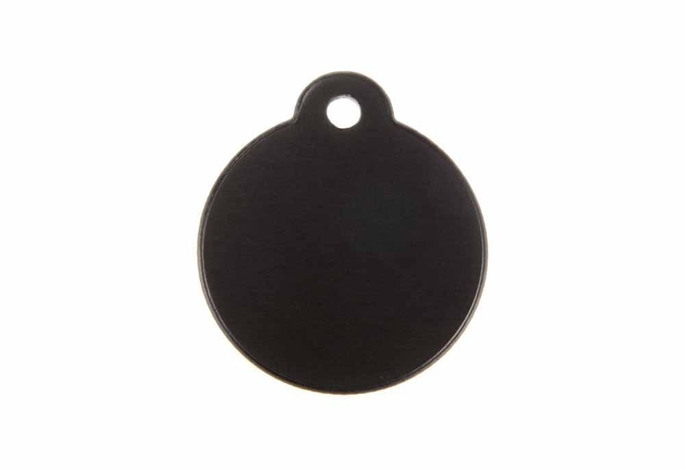 Médaille Ronde avec bélière Noir Ø 27mm