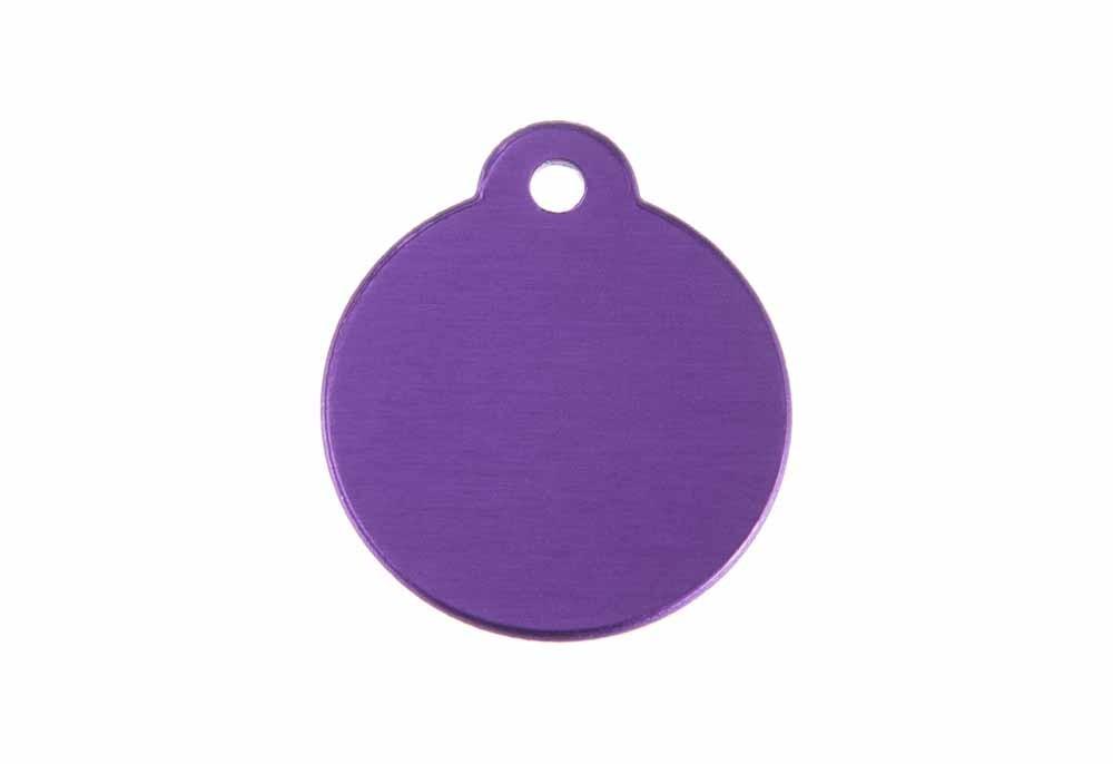 Médaille Ronde avec bélière Violet Ø 27mm