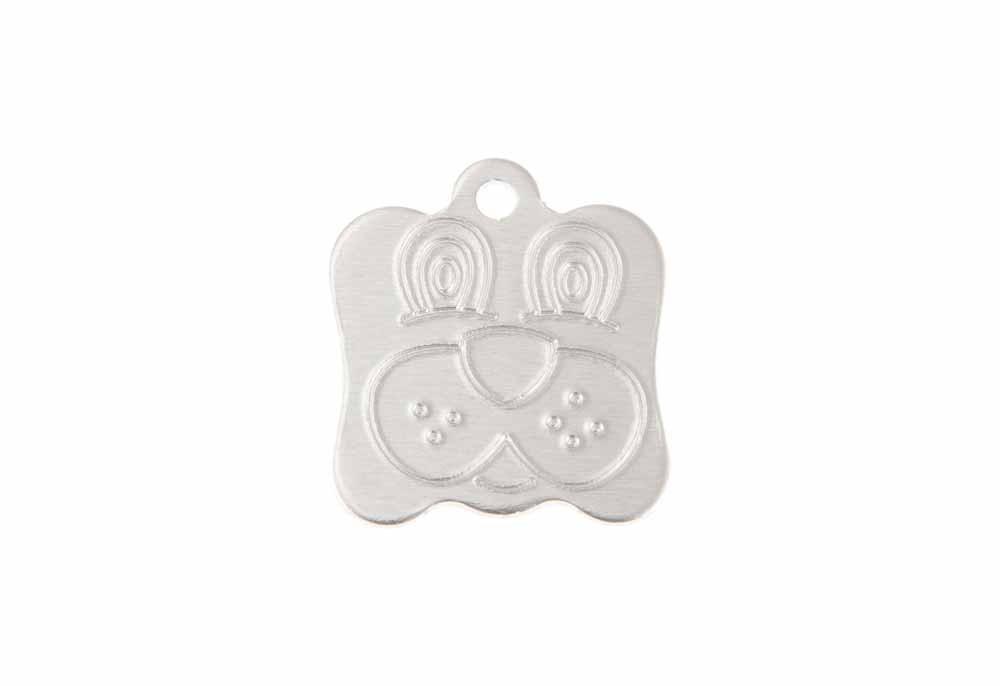 Médaille Tête de chien Argent 21x24 mm