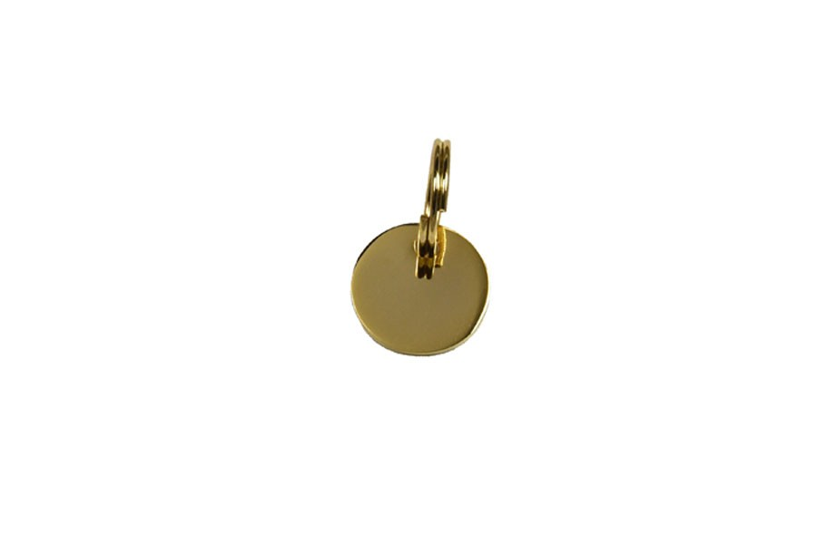 01D Médaille Laiton Dorée Ronde Ø 16 mm
