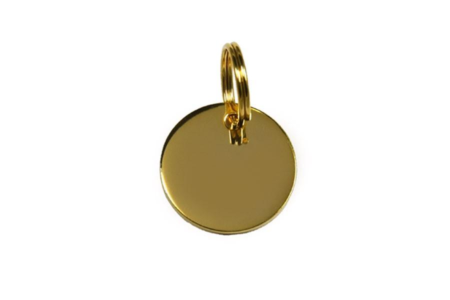 02D Médaille Laiton Dorée ronde Ø 22 mm