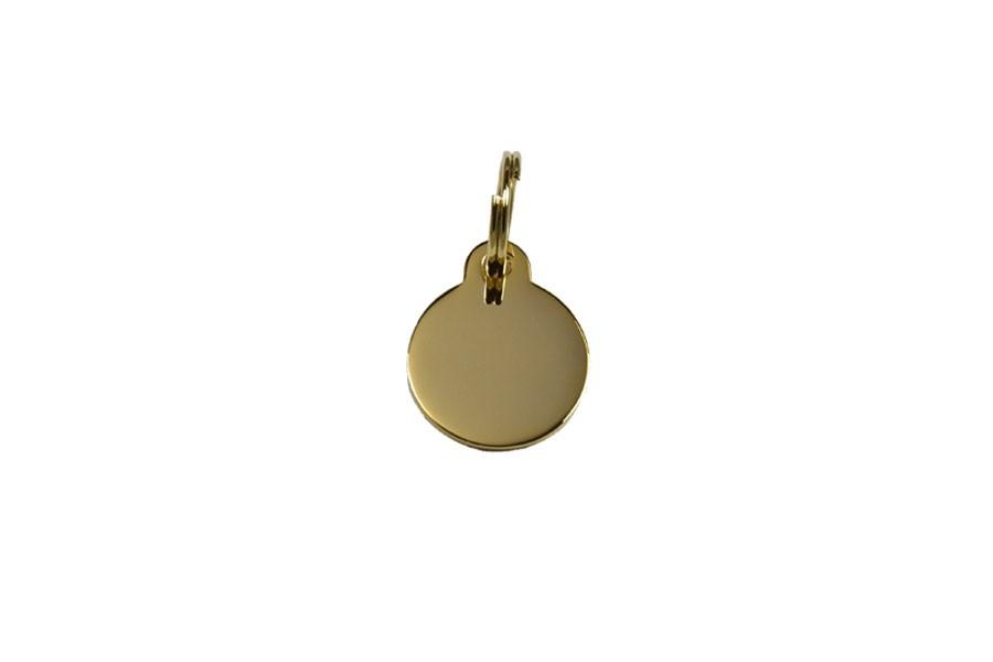 04D Médaille Laiton dorée Ø20mm +bélière