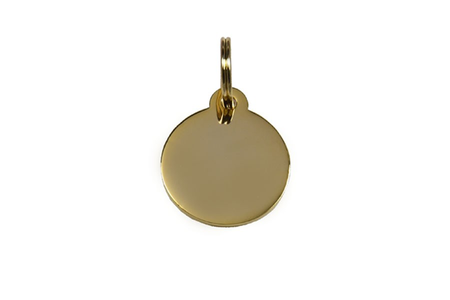 05D Médaille Laiton dorée Ø25mm +bélière