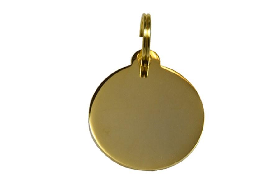 06D Médaille Laiton dorée Ø30mm +bélière