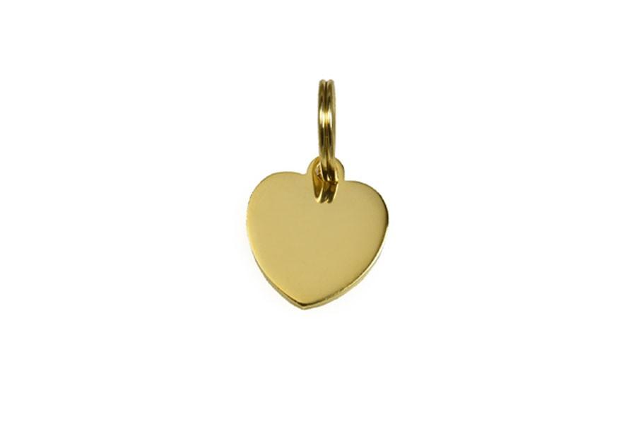 11D Médaille Laiton Dorée Coeur (Petit)