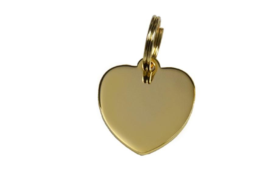 12D Médaille Laiton Dorée Coeur (Grand)