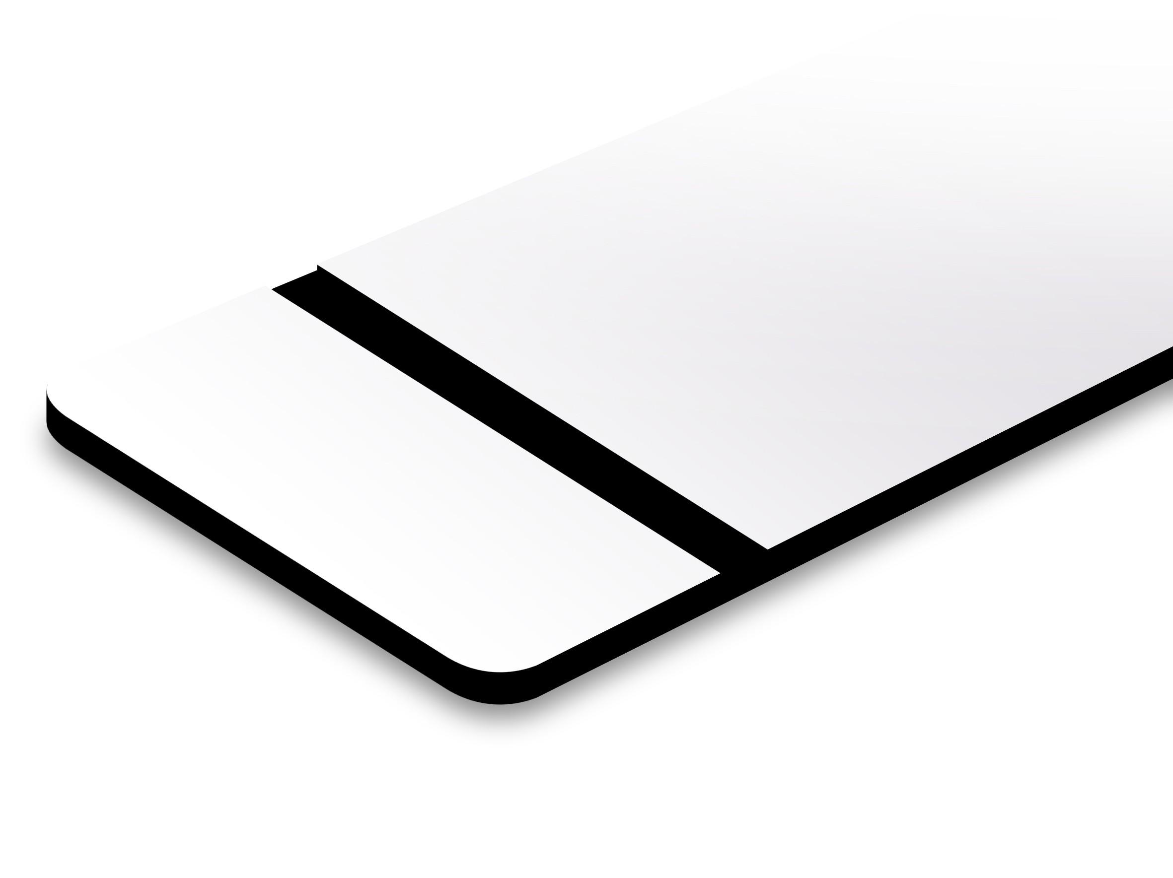 TroLase Ultra mat blanc/noir 1,5 mm