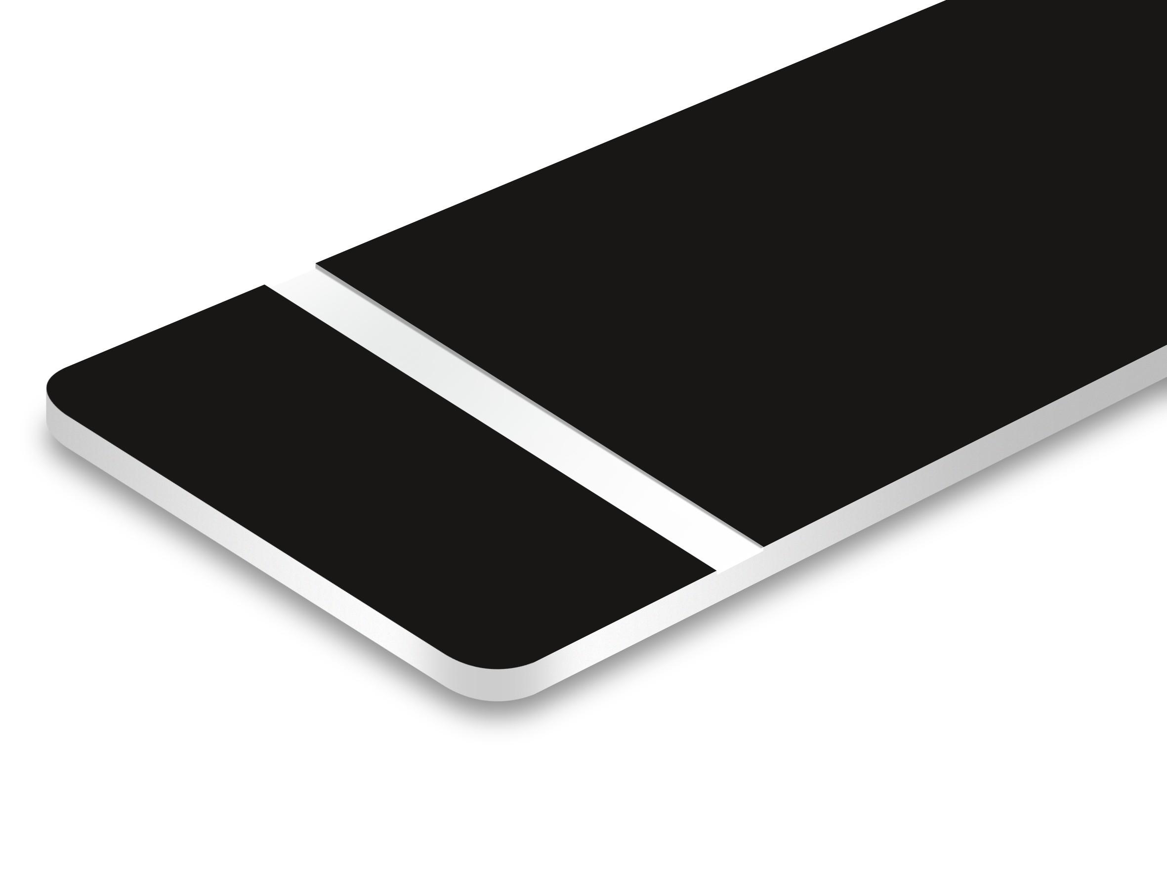 TroLase Ultra mat noir/blanc 1,5 mm