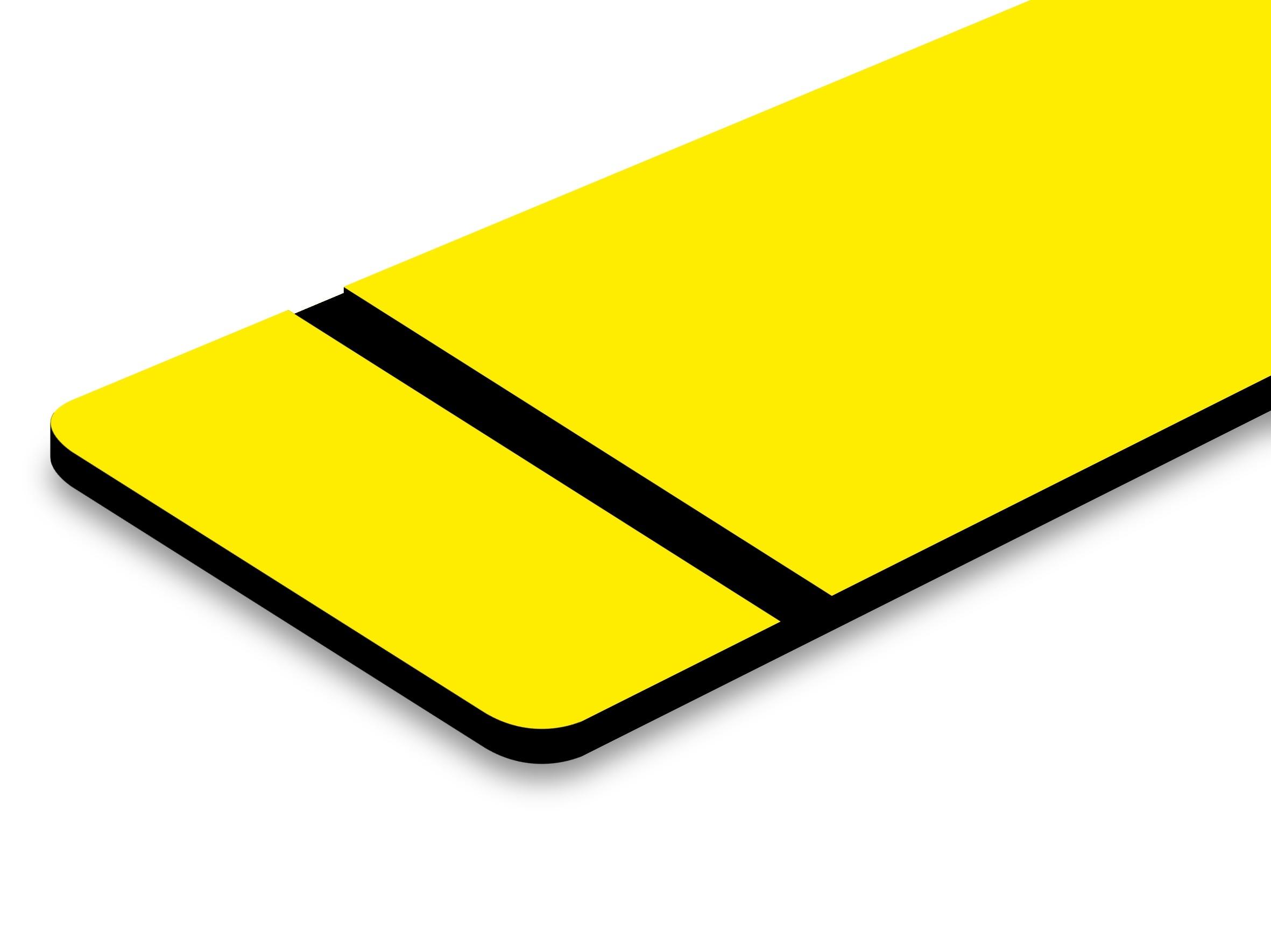 TroLase Ultra mat jaune/noir 1,5 mm