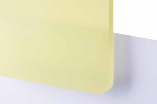 TroGlass Frosted Jaune clair, 3mm