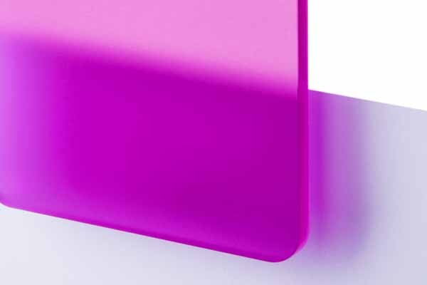 TroGlass Satins Fuchsia translucide, 3mm