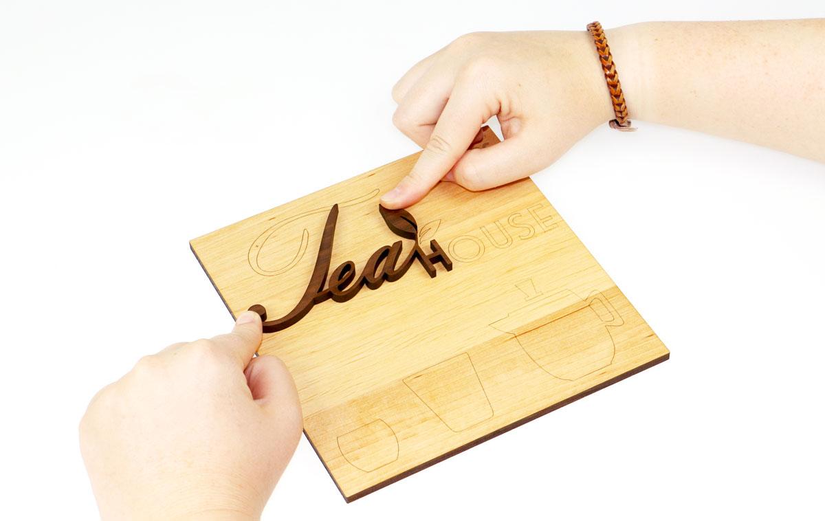 assemble laser engraved wood