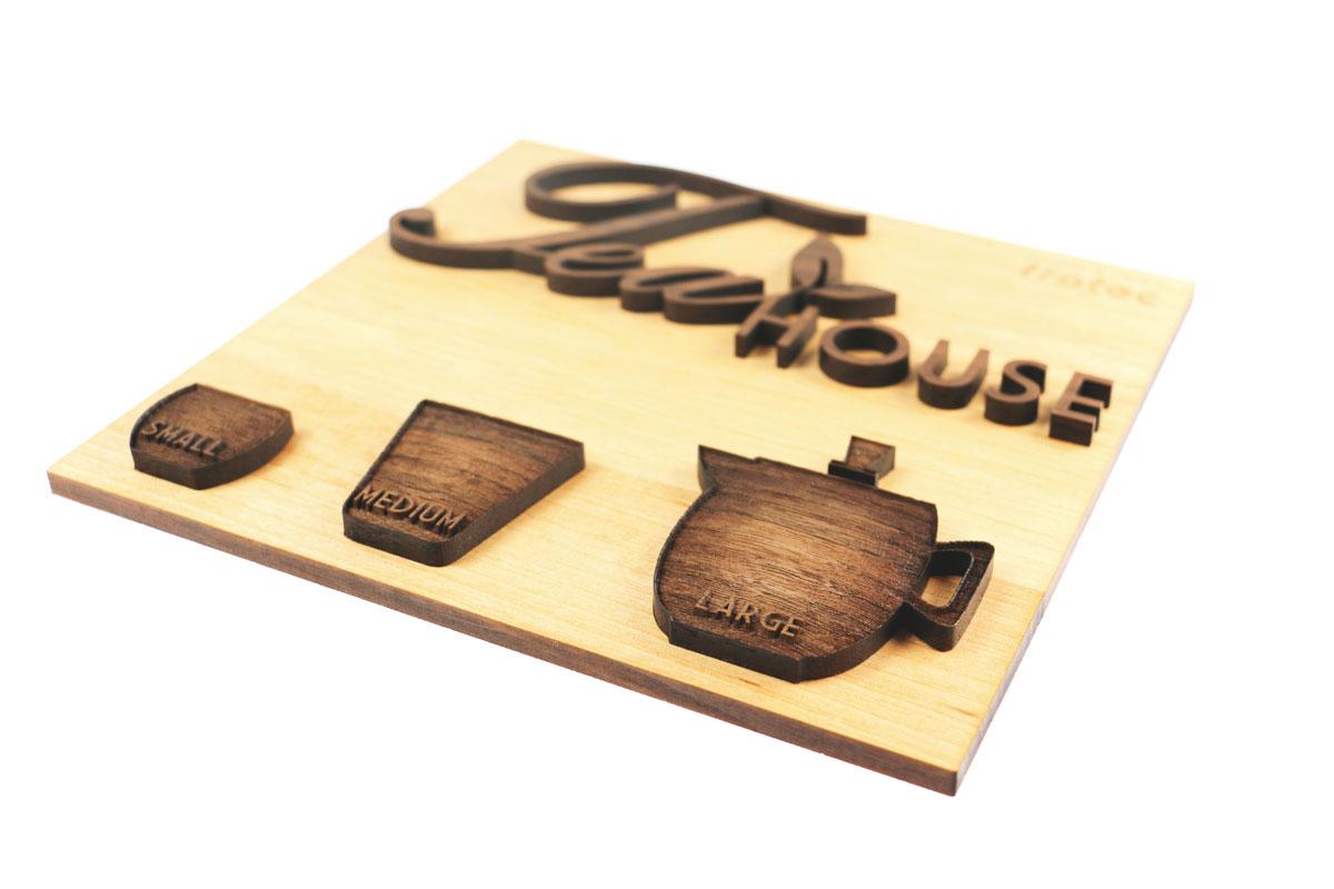 laser engraved wooden sign
