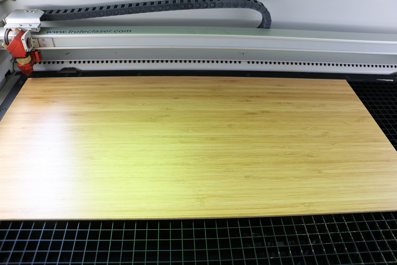 laser process wood panel