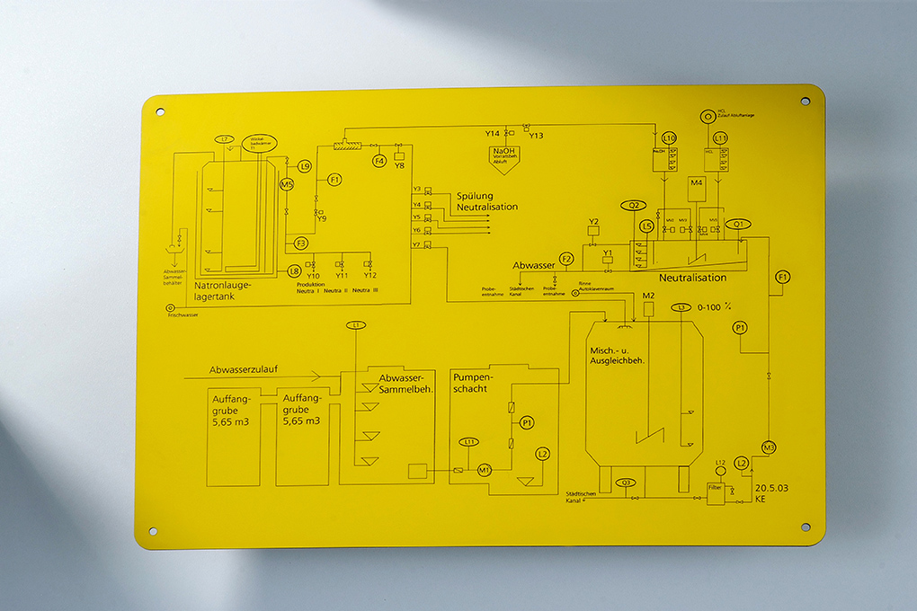 mechanical engraving for safety signs - TroPly