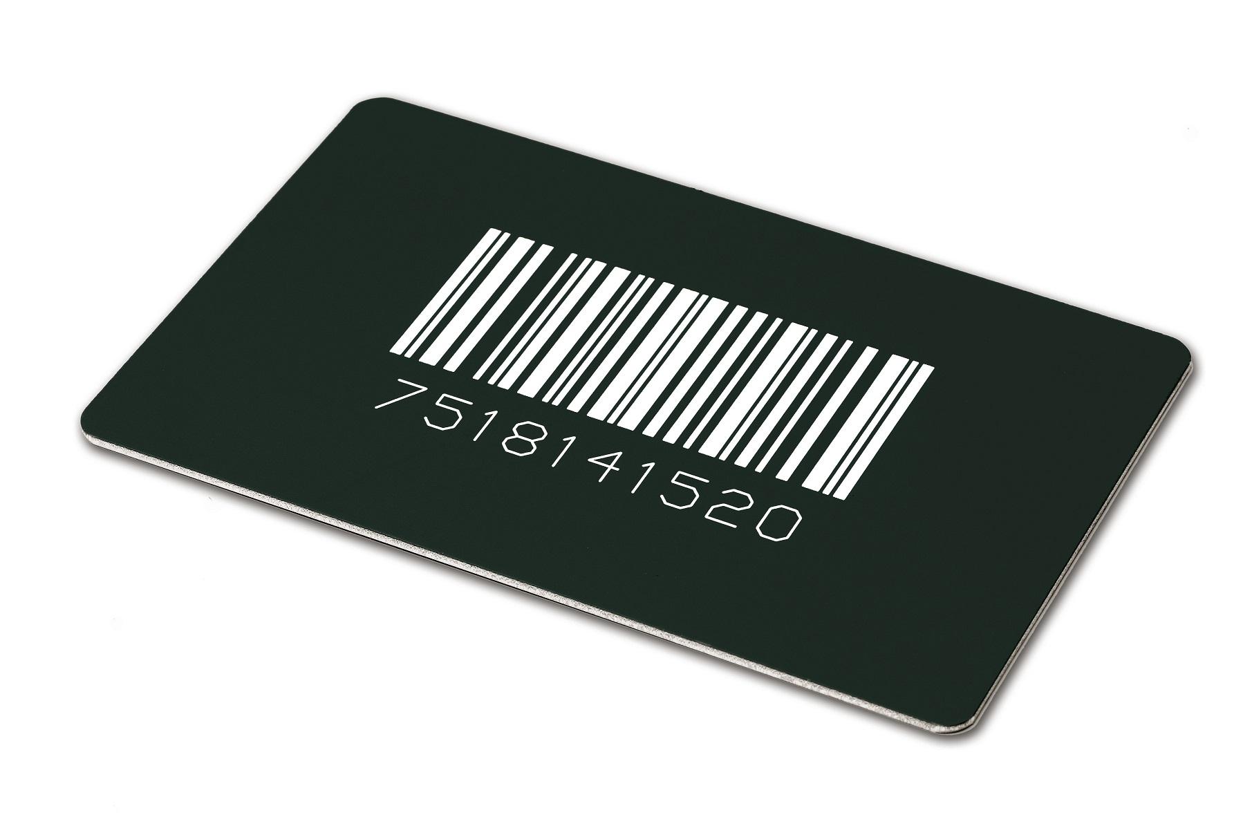 Eloxiertes Aluminium Barcode