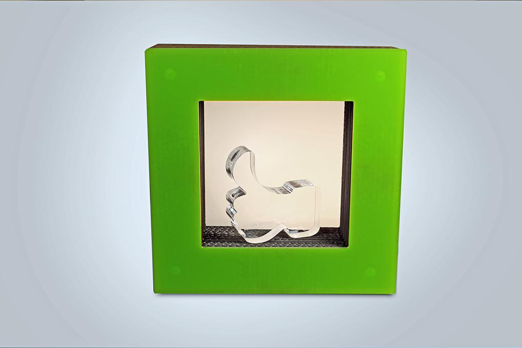 vidrio acrílico para exhibición de productos