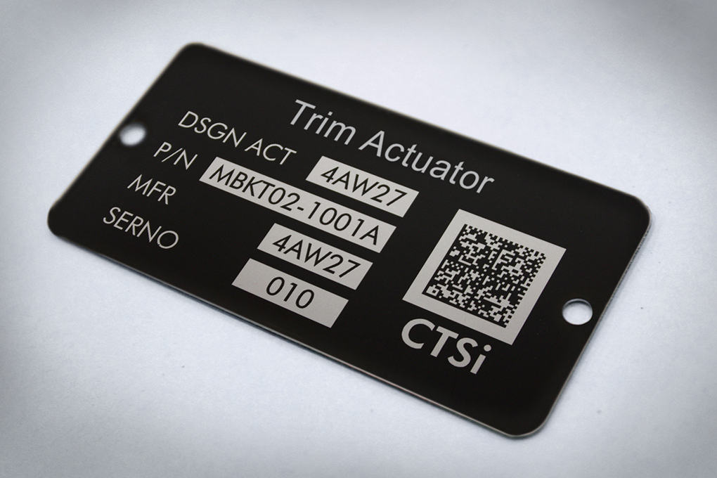 Trotec materials for dataplates and industrial tags