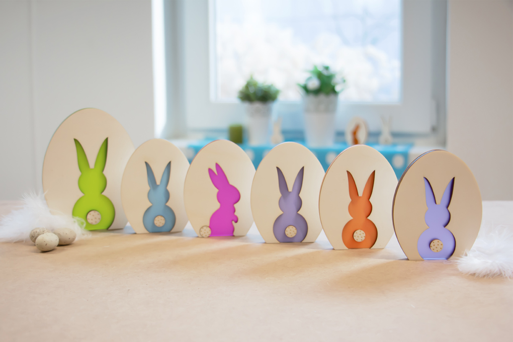 create your easter decoration with pastel colors