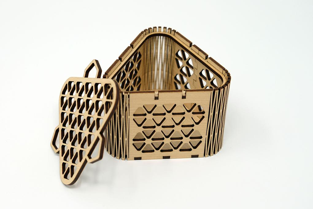 boîtes créatives en bois plaqué