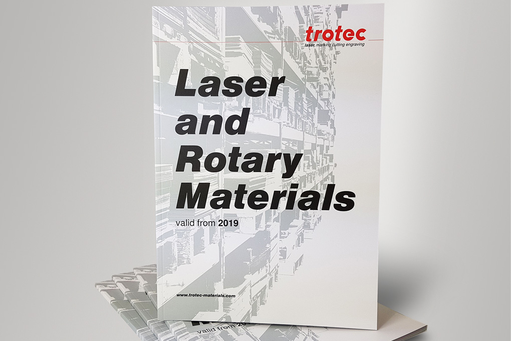 Trotec material catalogue 2019