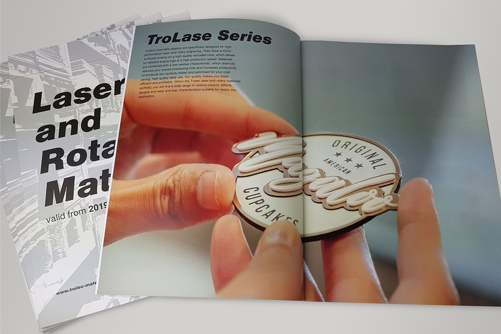 Laser materials and laser supplies catalogue from Trotec