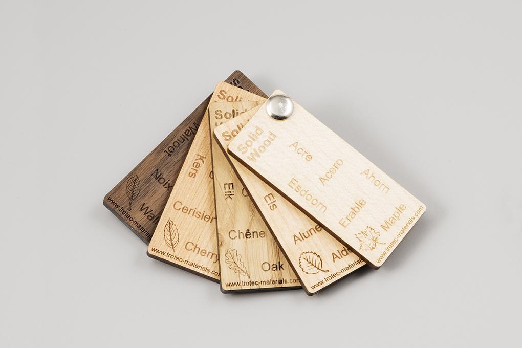 engravable wood fan