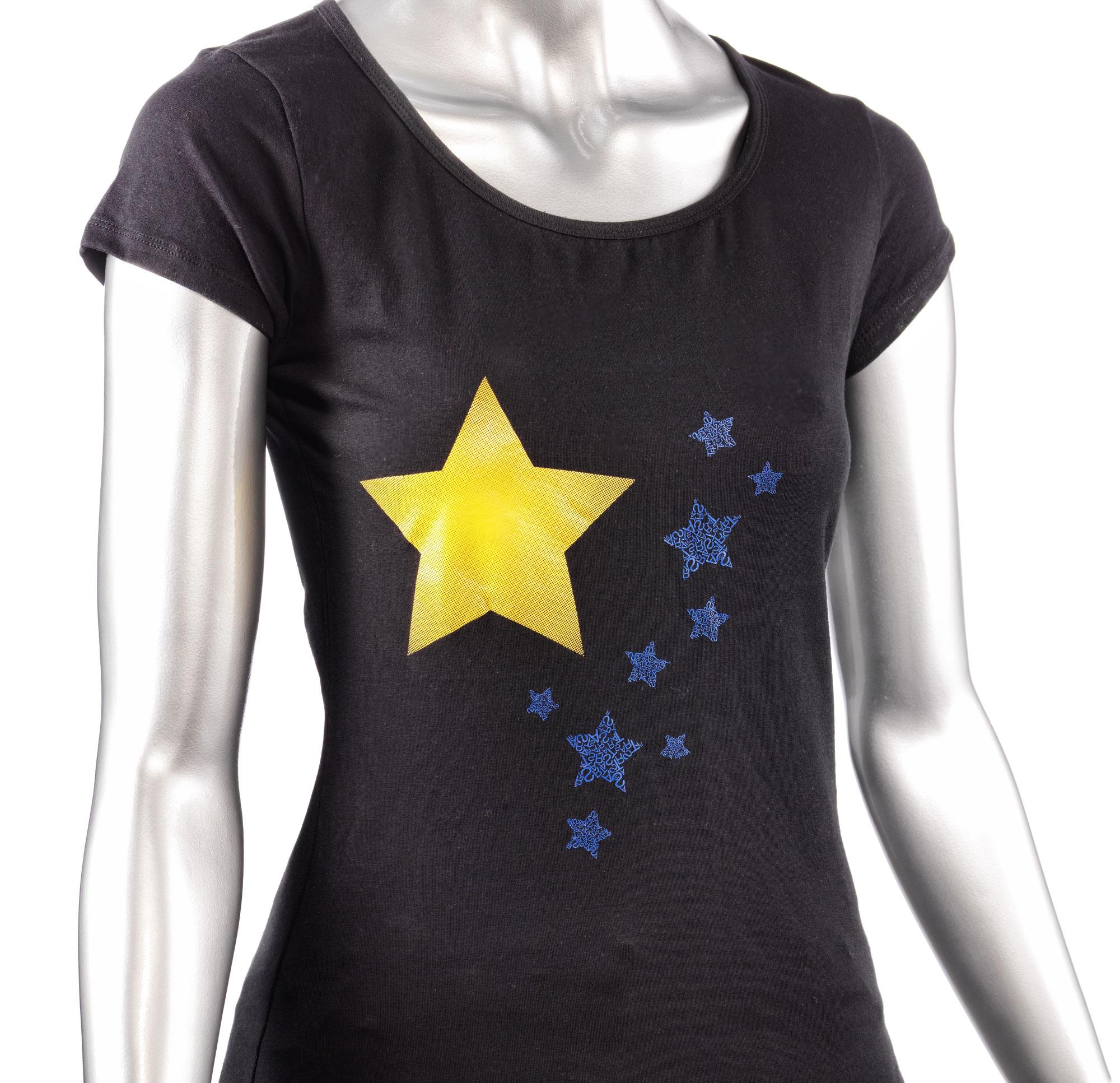 T-shirt Veredelung mit dem lasergravierbaren Folien