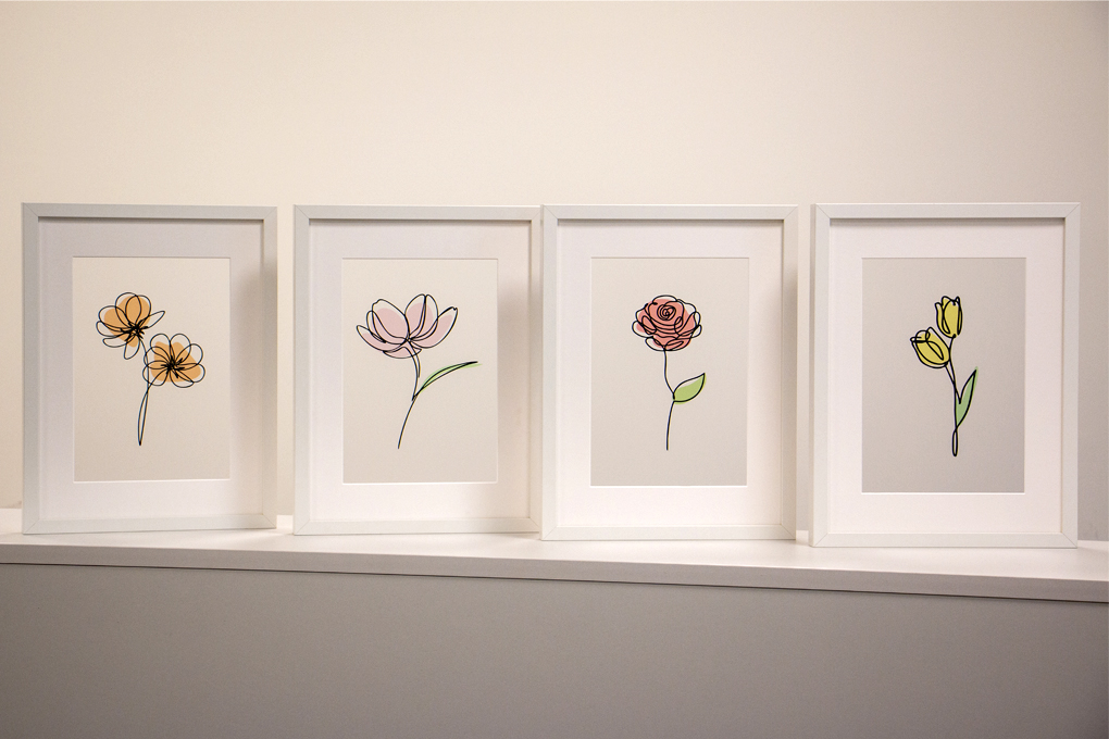 home decor with flowers
