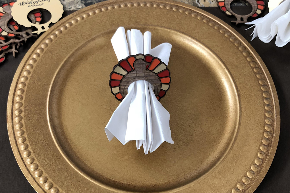 thanksgiving turkey napkin ring
