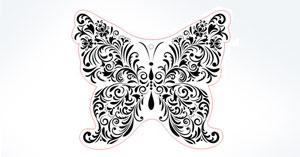 Grafik Schmetterling