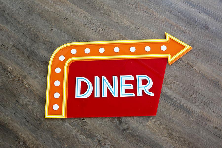 Letrero Dinner vintage