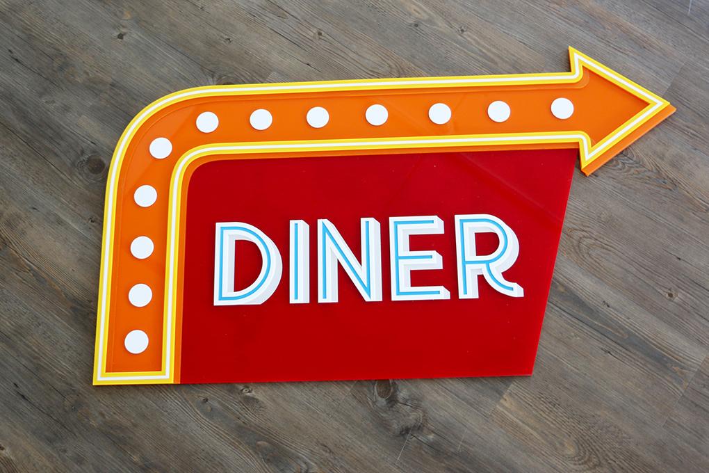Znak w stylu vintage z materiału TroGlass