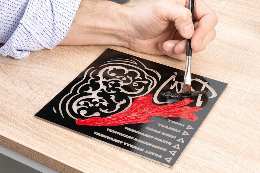 Reverse engraving