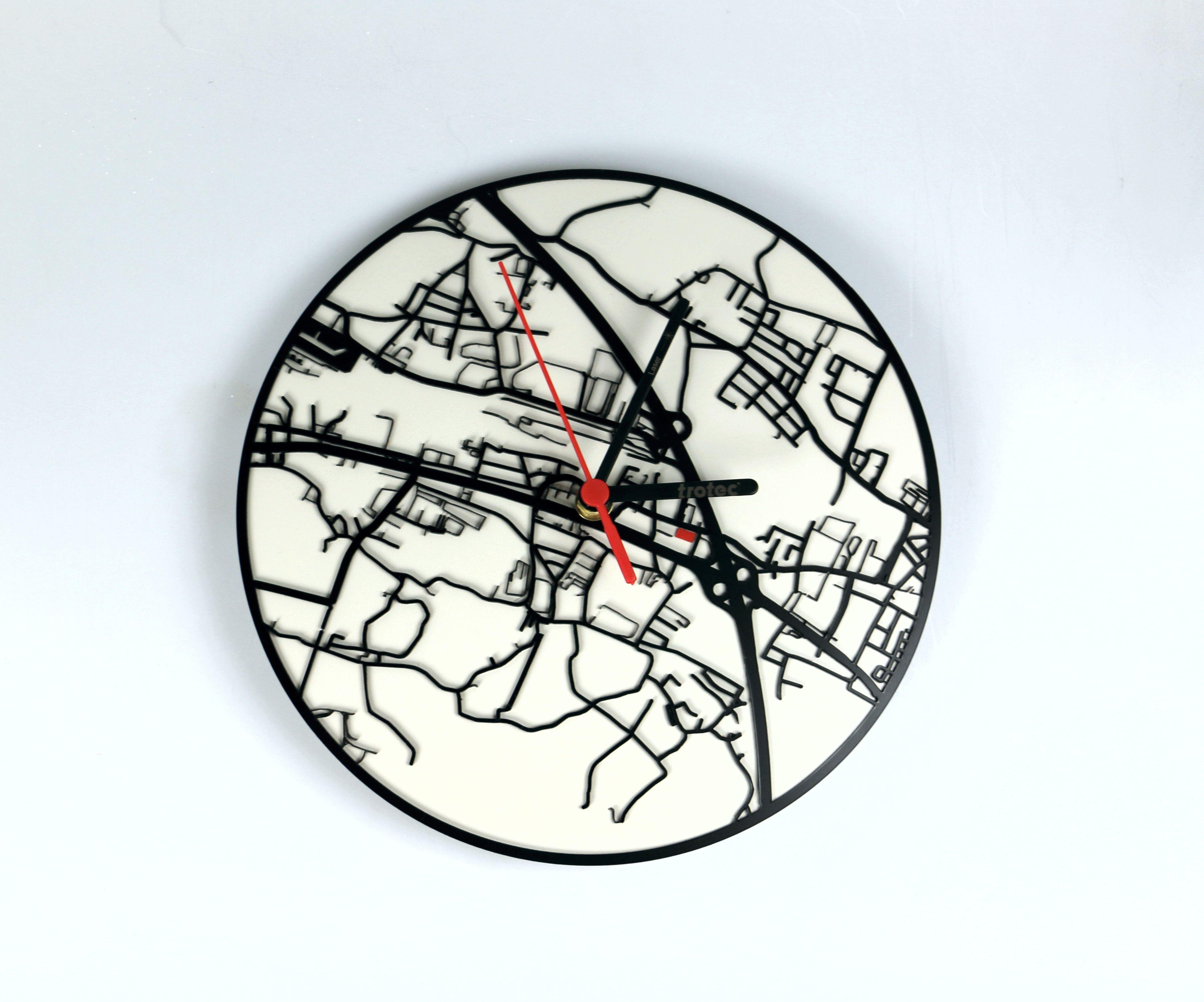 Laser acrylic wall clock