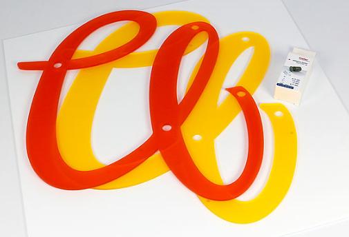 engravable acrylic letters