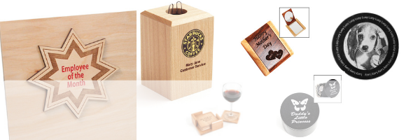 Engravable wood and engravable gifts deal banner