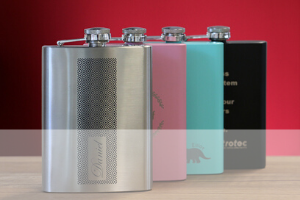 laserable hip flasks