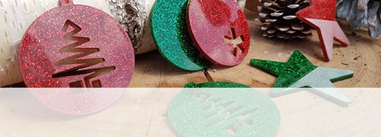 engravable acrylic Christmas colours