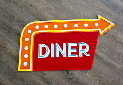 Acrylic vintage sign
