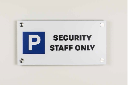 laminate parking sign